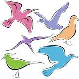 Pájaro decorativo Imagen de archivo libre de regalías
