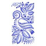 Pájaro decorativo floral del ornamento dormido libre illustration