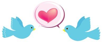 Pájaro del amor stock de ilustración