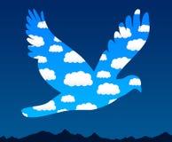 Pájaro del cielo Imagen de archivo libre de regalías