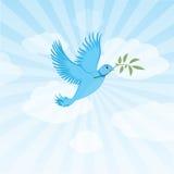 Pájaro del gorjeo - paloma de la paz Stock de ilustración