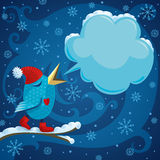 Pájaro del invierno stock de ilustración