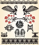 Pájaro del nouveau del arte Imágenes de archivo libres de regalías
