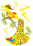 Pájaro del oro en fondo aislado Ilustración del Vector