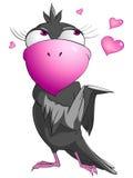 Pájaro divertido del personaje de dibujos animados Foto de archivo libre de regalías