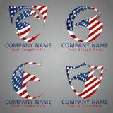 Pájaro Eagle American Flag Concept Logo/icono/mascota Imagen de archivo libre de regalías
