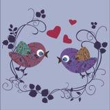 Pájaro en amor Fotografía de archivo libre de regalías