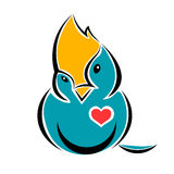Pájaro en amor Foto de archivo libre de regalías