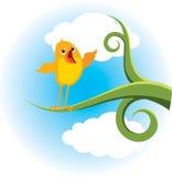 Pájaro en la ramificación stock de ilustración