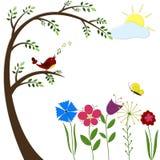 Pájaro en un árbol Imagen de archivo
