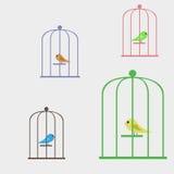 pájaro en una jaula Stock de ilustración