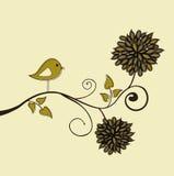 Pájaro en una ramificación ilustración del vector