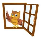Pájaro en una ventana Fotografía de archivo libre de regalías