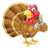 Pájaro hambriento de Turquía stock de ilustración