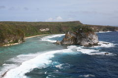 Pájaro-isla en Saipan imagen de archivo