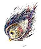 Pájaro lindo stock de ilustración