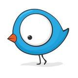 Pájaro lindo de la historieta stock de ilustración