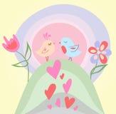 Pájaro minúsculo del amor ilustración del vector