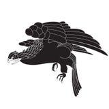 Pájaro negro ilustración del vector