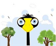 Pájaro negro de la historieta Imágenes de archivo libres de regalías