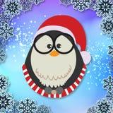 Pájaro pequeña Santa Vector Image del invierno Fotos de archivo libres de regalías