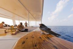Pájaro rápido del trago en el barco Imagen de archivo libre de regalías