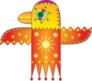 Pájaro solar. Gráfico simbólico. Imágenes de archivo libres de regalías