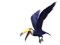 Pájaro toucan que vuela stock de ilustración