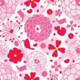 Pájaro y amor Pattern_eps Foto de archivo libre de regalías