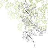 Pájaro y flores Imagen de archivo libre de regalías
