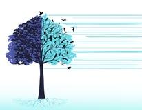 Pájaros artísticos del árbol libre illustration