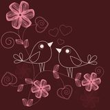 Pájaros cariñosos Foto de archivo