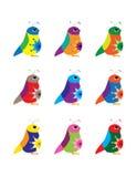 Pájaros coloridos Imagen de archivo