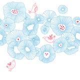 Pájaros con las flores Imágenes de archivo libres de regalías