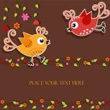 Pájaros con las flores Fotografía de archivo libre de regalías