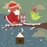 Pájaros de la Navidad Fotografía de archivo