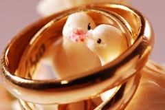 Pájaros de los anillos de bodas Fotos de archivo