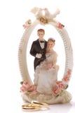 Pájaros de los anillos de bodas Foto de archivo libre de regalías