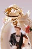 Pájaros de los anillos de bodas Imagenes de archivo