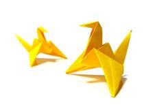Pájaros de Origami Imágenes de archivo libres de regalías