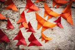 Pájaros de Origami Fotos de archivo