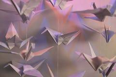 Pájaros de Origami Imagenes de archivo