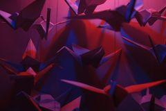 Pájaros de Origami Foto de archivo libre de regalías