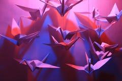 Pájaros de Origami fotografía de archivo