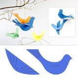 Pájaros de papel Fotos de archivo