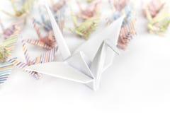 Pájaros de papel Foto de archivo