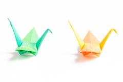 Pájaros de papel coloridos Imágenes de archivo libres de regalías