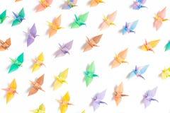 Pájaros de papel coloridos Foto de archivo