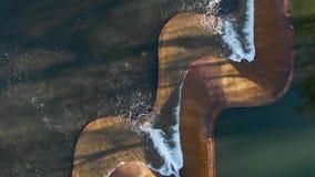 Pájaros de vuelo sobre la cascada almacen de metraje de vídeo
