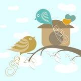 Pájaros del amor libre illustration